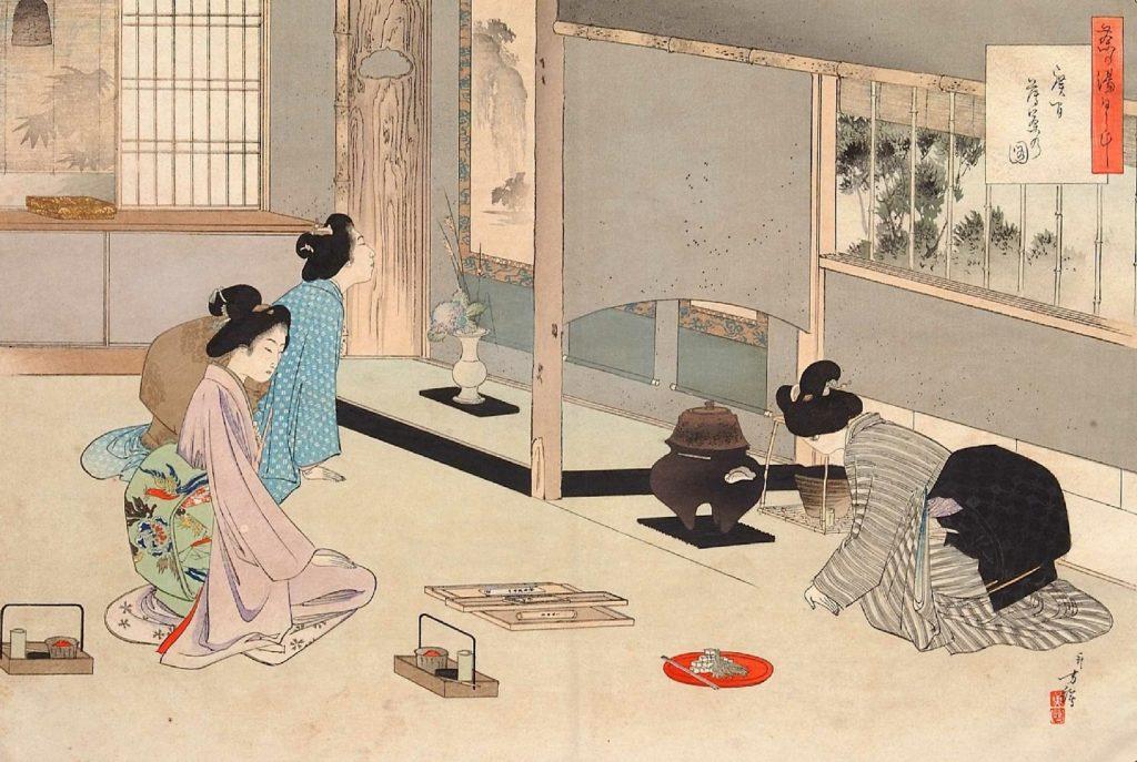 drinking tea japan