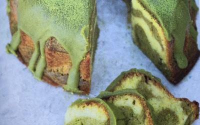 Ciasto marmurkowe z matchą