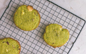 Matcha cookies by the chef Alexandre Couillon