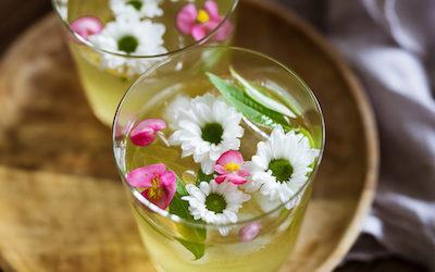 Cold brew tea with green tea Kukicha